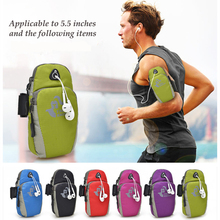 5.5inch Running Jogging GYM Protective Phone Bag Sports Wrist Bag Arm Bag , Outdoor Waterproof Nylon Hand Bag For Camping Hiking