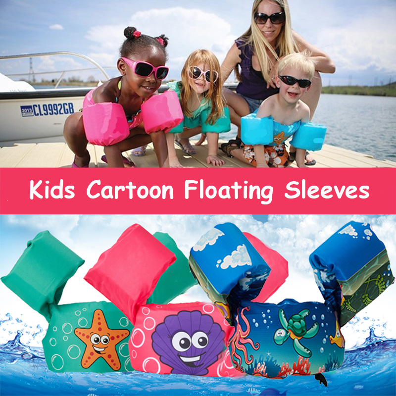 Baby-Cartoon-Float-Tube-Arm-Sleeves-Swimming-Ring-Life-Vest-Jackets-Armlets-Swim-Trainer-Inflatable-Pool
