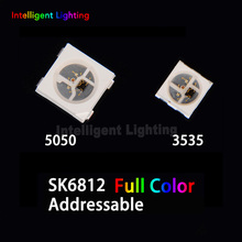 10~1500pcs SK6812 (4pins) 5050/3535 (similar with WS2812B) Individually Addressable Digital RGB Full Color LED Chip Pixels DC 5V(China)