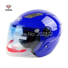 blue Motorbike half face YOHE Helmets ,summer motorcycle electric bicycle headpiece safety helmet scoote dirt bike