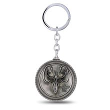 MS JEWELS 10pcs Batch Wholesale Game of Thrones Key Chain House Greyjoy Logo Metal Key Rings High End Fans Promotion Gifts(China)