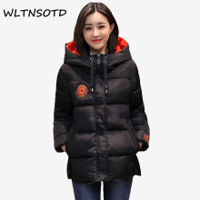 Buy 2017 new winter cotton Coat women fashion short Slim thick warm hooded jacket Female badge pattern Large size L-5XL Parkas for $46.85 in AliExpress store