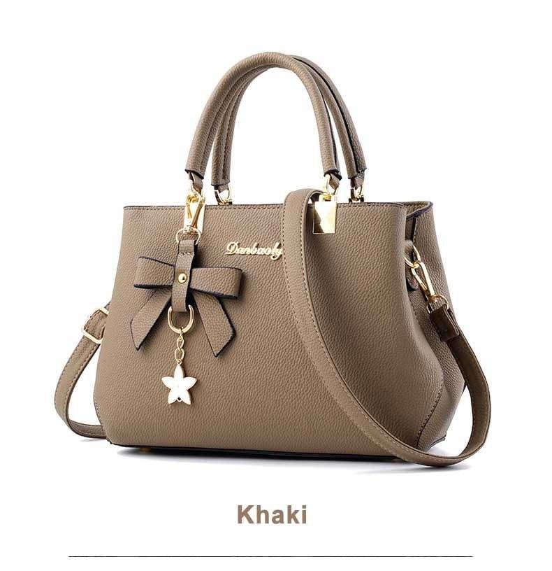 WENYUJH New 18 Elegant Shoulder Bag Women Designer Luxury Handbags Women Bags Plum Bow Sweet Messenger Crossbody Bag for Women 18