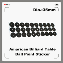 Billiards Table Ball Point Sticker; 35mm