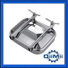 Stainless Steel Rectangular Side Manway, 530x430mm Sanitary Manhole Cover(China)