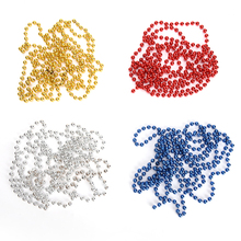 1PCS Christmas beads Chain Artificial Beads Chain Garland Flowers DIY Wedding Party Decoration Products Supply(China)