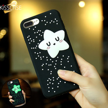 KISSCASE NEW Fashion Girl Light Stars Phone Case for iPhone 7 7 plus Case for iPhone 6 6s plus Cute Lady Soft Silicon Cover Capa