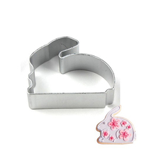 Cute Rabbit Shaped Aluminium Mold Sugarcraft Biscuit Cookie Cake Pastry Baking Cutter Mold Tool baking bakeware mold cupcake