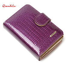 New pattern Genuine leather women's short design wallet fashion classic crocodile pattern purse female Wallets Cowhide 3 Colors(China)