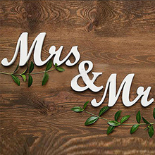 Mr and Mrs Letters Sign Freestanding Top Table Wedding Decor Centerpiece HOT PVC English letters ornaments wedding sign
