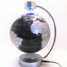 220V 8 Inch Electronic Educational Magnetic Levitation Floating Globe World Map with LED Lights Gift Home Decoration