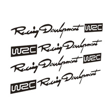 12*2CM WRC Rally Car Stickers Simon Handle Handle Reflective Personality Sticker Decal CT-329