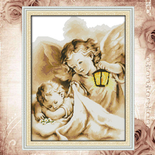 Joy Sunday Counted cross stitch kits handmade embroidery kits angel in dream DMC 14CT 11CT cotton fabric hotel office painting(China)