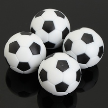 Mini Cute 4pcs Black White 35mm Plastic Football Foosball Balls For Soccer Table Football Craft For Kids Gift Toys Ornament(China)
