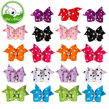 20/50/100pcs Diamond Dot Print Pet Cat Dog Hair Bows Grooming Accessories Wholesale(China)