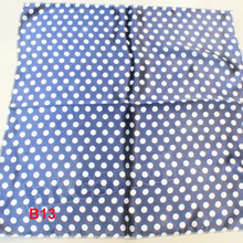 Fashion Brand Female 50cm dark blue dots scarf bandanas handkerchief neckerchief  Polyester Square Scarf/Shawl For Ladies b013