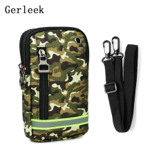 Gerleek Universal Camouflage Package Multifunctional Cell Phone Bag Hanging Neck Wallet Outdoor Bag Pouch For iPhone 6S X 8 Plus(China)