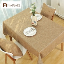 Rustic fabric fashion solid color linen table cloth tablecloth dining table cloth table cover(China)