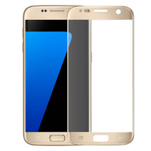 Full Cover Curved Touch Screen Guard Film Tempered Glass For Samsung Galaxy S7(China)