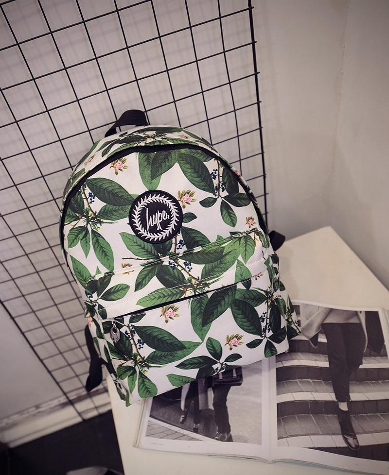 Hot-selling 2017 new fashion Harajuku skateboard HYPE letter leaf backpack preppy style schoolbag women travel shoulder bag<br><br>Aliexpress
