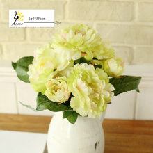 Free Shipping Cheap simulation flower artificial flower decoration big peony flowers silk High Quality Fast Delivery