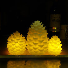 3pcs Scented Pineal Economic Flameless LED Candles bougie Bulk velas Electric Candles chandelle For Wedding Holiday Decoration(China)