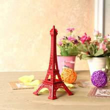 25cm Red Eiffel Tower Paris France Metal Tower Display Stand Party Favor