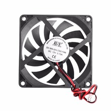 12V 2-Pin 80x80x10mm PC Computer CPU System Heatsink Brushless Cooling Fan 8010