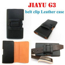 Horizontal Leather Pouch Holster Belt Clip Case For Jiayu G3(MTK6577) High Quality the best safe home for your beloved phone(China)