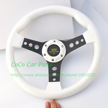 LYJ Racing Car Steering Wheel White Color Sport Car Steering Wheel ABS Material High Quality Game Steering Wheel Non-slip(China)