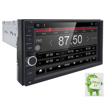 QuadCore Android 6.0 car  2din universal Car Multimedia double din Stereo GPS Navigation car radio android 2din DVR SWC DVBT DAB