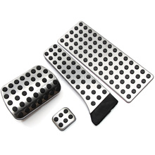 Car styling No Drill Gas Fuel Brake Plate Non Slip Stainless Steel Pedal Pads Cover For Mercedes Benz C E S GLK SLK CLS SL Class(China)