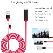 For Lightning to HDTV HDMI Cable For Projector TV 1080P Display USB HDMI Cable Adapter For iPhone 7 6 6S Plus 5 5S SE 5C Phone(China)