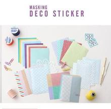 Seeso Sticker Masking Deco Paper Kawaii Diary Stickers, 24 Sheets Different Designs/DIY Decoration # Seeso