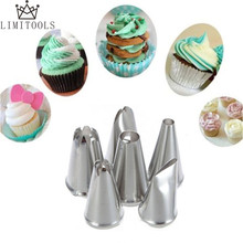 6pcs/set DIY Stainless Steel Icing Piping Nozzles Pastry Tips Fondant Cup Cake Baking Free Shipping