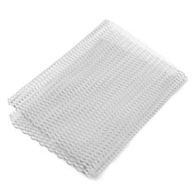 Universal 100 x 33cm Silver Aluminum Alloy Grille Net Mesh Grill Section For Car Auto