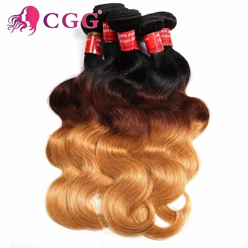 Peruvian Ombre Body Wavy Hair Ombre Peruvian Virgin Hair 4 Bundles Cheap T1B/4/27 Peruvian Ombre Human Hair Weave Body Wave<br><br>Aliexpress