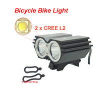 Bike Light X2 L2 5000 Lumen  SolarStorm Bicycle lamp 2x Cree XML L2 LED BicycleLight Bike headLamp+O ring (only headlight)