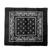 Bandanas scarf Hip Hop Rock headband hair scarf for dance Sport - black