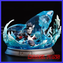 MODEL FANS IN-STOCK Naruto  sd version 16cm height Hoshigaki Kisame contain led base gk resin statue figure for collection