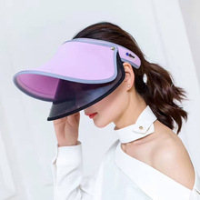 Summer ladies anti-ultraviolet dual-layer sun hat Retractable male and female shade empty hat