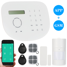 433MHz Wireless GSM Alarm System TFT LCD Display Touch Keyboard Home House Burglar System Phone APP Control SIM Card RFID Card