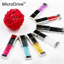Beautiful Crystal diamonds USB Flash Drive pen 4gb 8gb 16gb 32gb 64GB memory stick colorful stick pen gift
