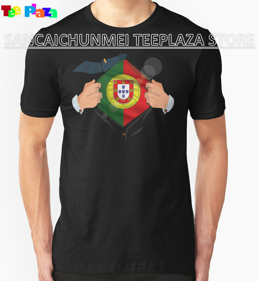 Design t shirt murah - Teeplaza Murah T Shirts Online Bangga Portugis Men S Desain O Neck Lengan Pendek T Shirt