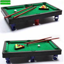 MINI POOL TABLE Flocking Desktop Simulation Billiards Novelty Mini Billiards Table Sets Children's Play Sports Balls Sports Toys
