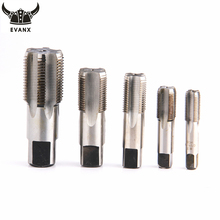 EVANX Piping Thread Taps HSS Straight Flutes For Water Pipe Plug Teeth Wire Screw Tap Hand Pipe Threading Tool(China)