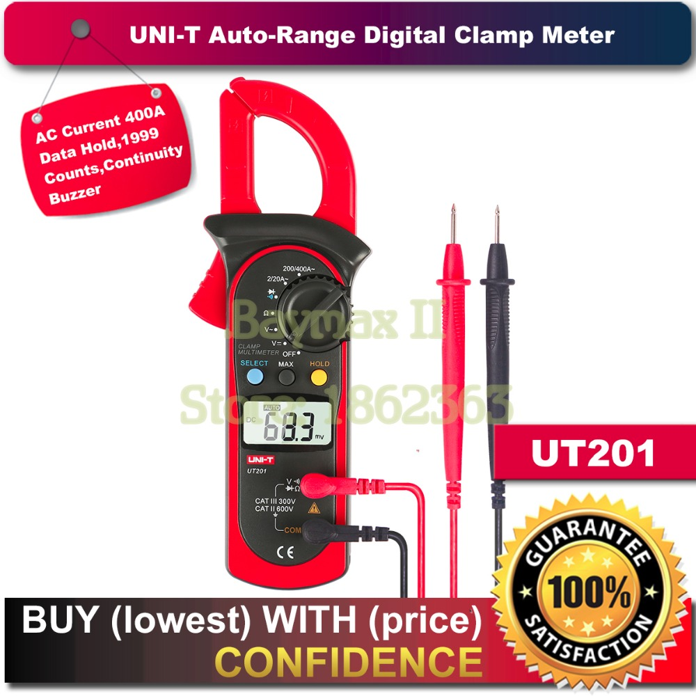 UNI-T UT201 1999 Counts Digital Auto Range Clamp Multimeter with 400A AC Current Test and Continuity Buzzer<br><br>Aliexpress