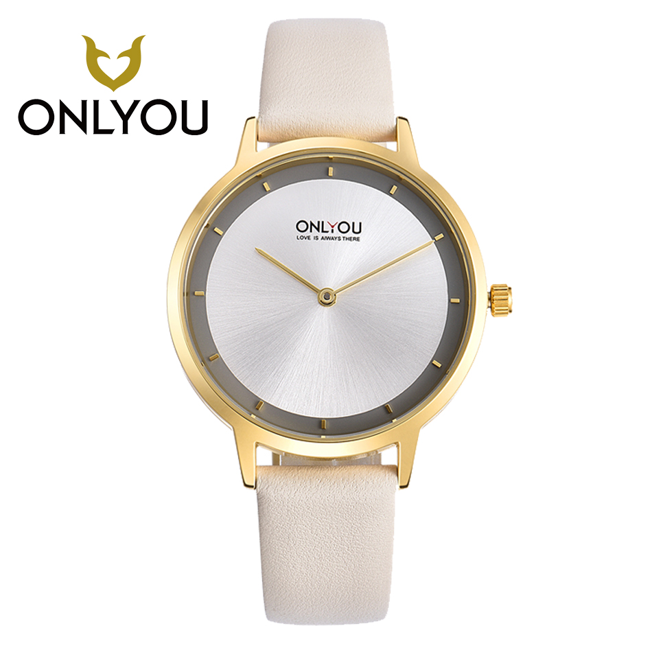 ONLYOU Famous Brand Girls Watches Wrap Around Leather Band Exquisite Casual Quartz Watch Waterproof Round Case Ladies Wristwatch<br>