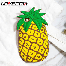 LOVECOM New 3D Fruit Pineapple Phone Back Cover Cases For iphone 5 5S SE 6 6S 7 7 Plus Soft Silicon So Cool Capa Fundas