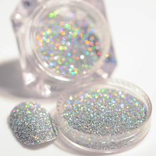 2g/Box Holographic Silver Laser Nail Glitter Powder Gorgeous Shiny Dust Powder Manicure Nail Art Glitter Decoration(China)
